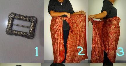 Siminyuns Story Cara Pakai Kain Batik Sebagai Rok