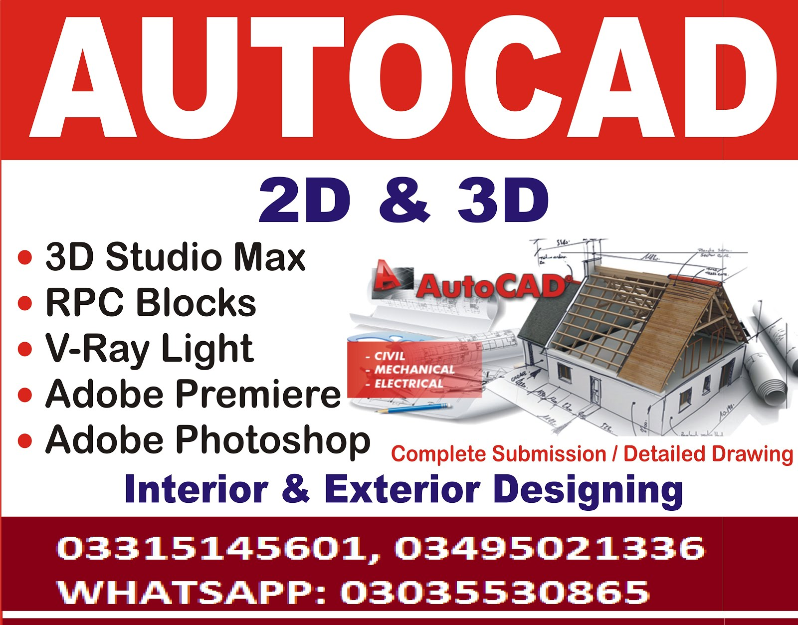 Autocad Training Course in Chakwal Pakistan Rawalpindi 2D & 3D