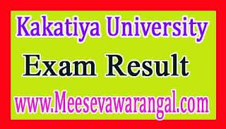 Kakatiya University degree 1st 2nd / 3rd year Supply Oct / Nov Results 2016