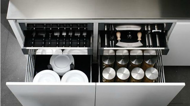 Los más útiles accesorios para cajones de cocina - Cocinas ...