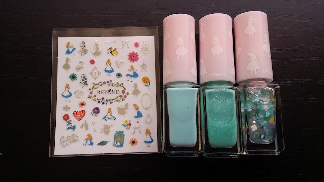 Beyond cosmetics Disney Alice in Wonderland collaboration second collection blooming gradation mint 02 kit