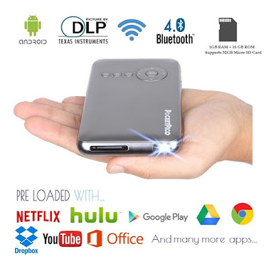 Best Wireless Mini Mobile Projector For Samsung Galaxy S7 Edge / S8 Plus