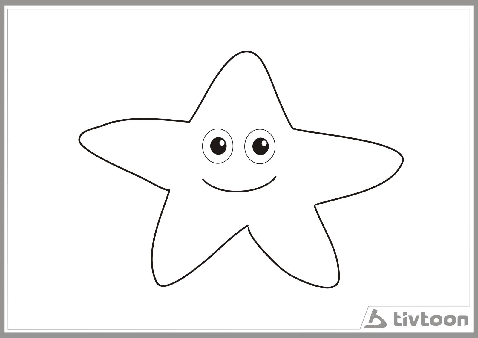Sketsa Gambar Bintang Laut
