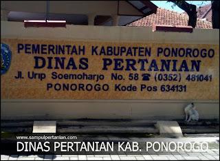 Alamat Dinas Pertanian Kabupaten Ponorogo