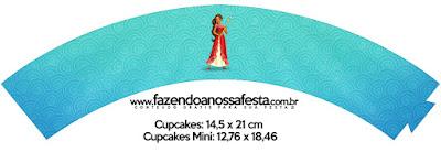 Wrappers para Cupcake de Fiesta de Elena de Avalor  para Imprimir Gratis.