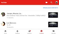 Usa la Chat sull'app Youtube per condividere video e messaggi con amici