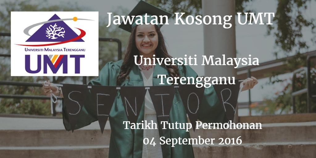 Jawatan Kosong UMT 04 September 2016