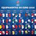 Camisas de todas as seleções da Euro 2016