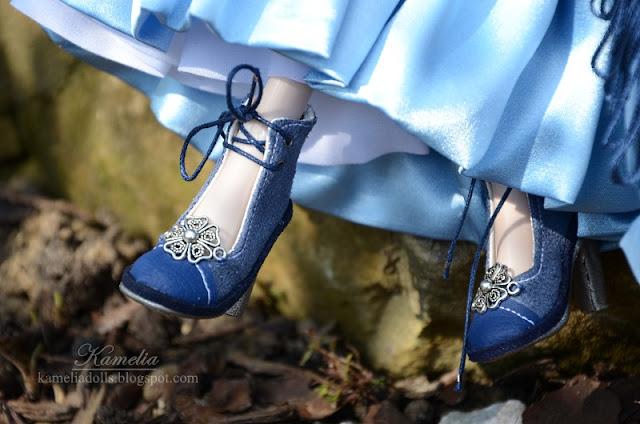 Handmade high heel shoes for Evangeline Ghastly doll
