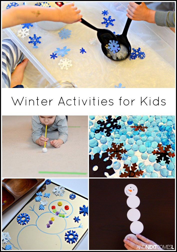 winter activities for kids and next comes l