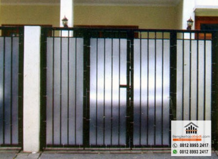 Pagar Rumah Minimalis Stenlis  jasa pasang pagar kanopi teralis railing balkon di