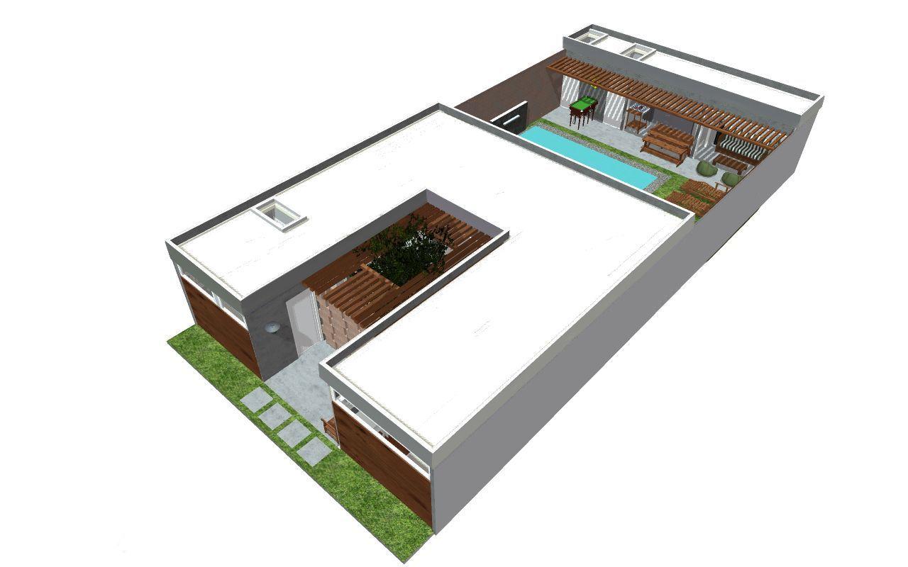arquitectura: departamento flat, 2 dormitorios, en 92.78 m2
