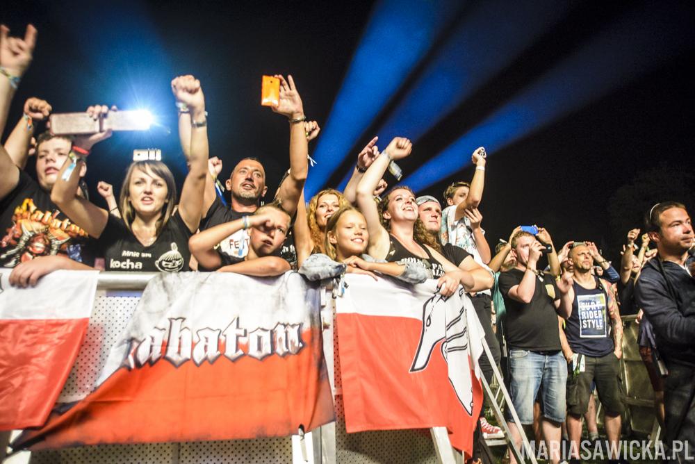 Sabaton crowd publika tłum publiczność Czad Festiwal polish panzer battalion