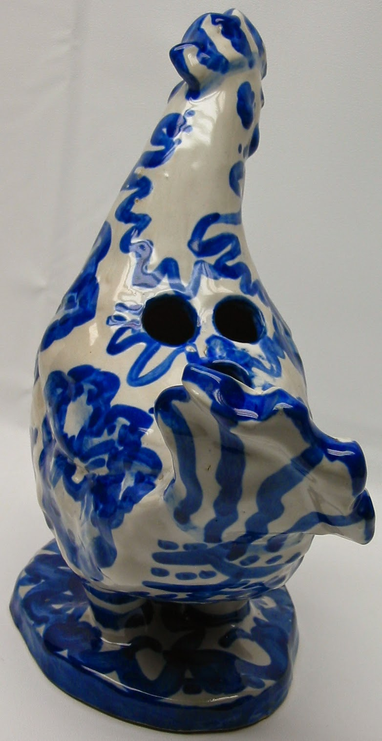 Lauragarnet Ma Hadley Kentucky Pottery Figural Rooster