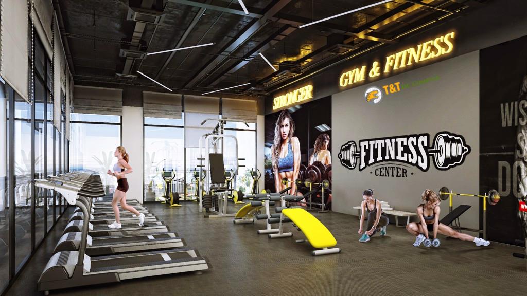 Phòng tập Gym của dự án T&T DC Complex