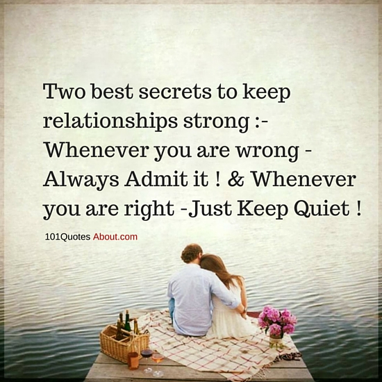 Two Best Secrets To Keep Relationships Strong