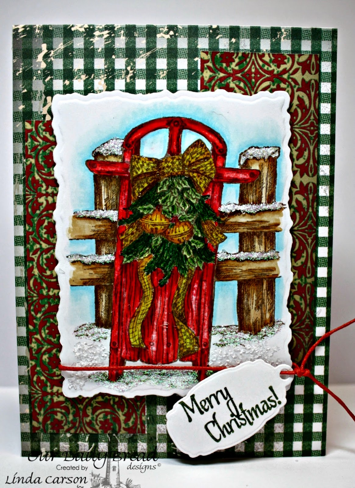 Our Daily Bread Designs, Let It Snow, His Birth, Mini Tag dies, Christmas Collection 2013, designer Linda Carson