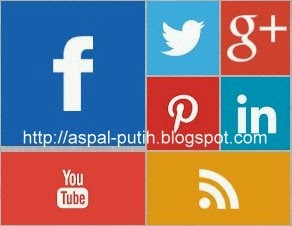 cara membuat widget social profile blogger