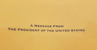 Congratulatory message from Obama