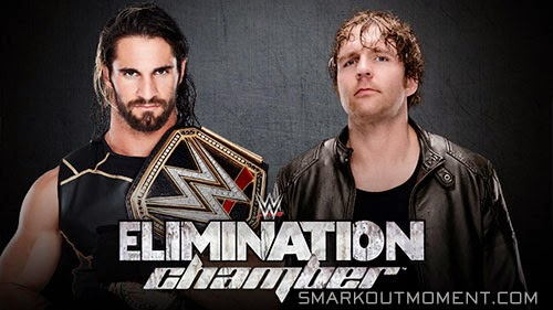 WWE Elimination Chamber 2015 Dean Ambrose vs Seth Rollins