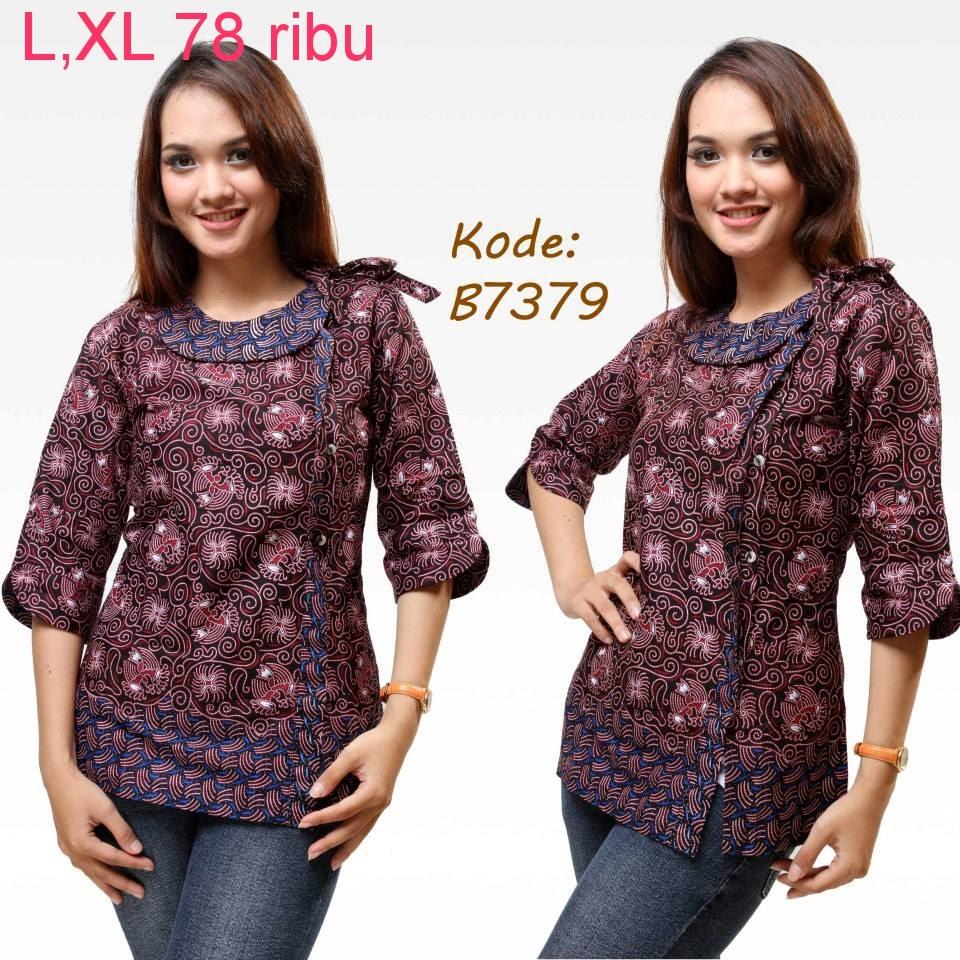 Gambar Baju Batik Kantor Wanita: Model Baju Batik Kantor