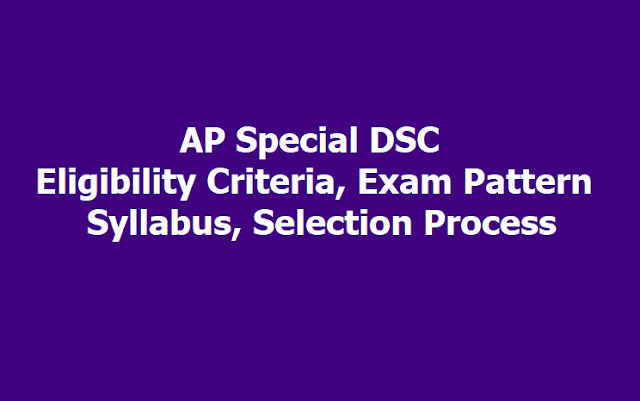 AP Special DSC Eligibility Criteria, Exam Pattern, Syllabus, Selection Process