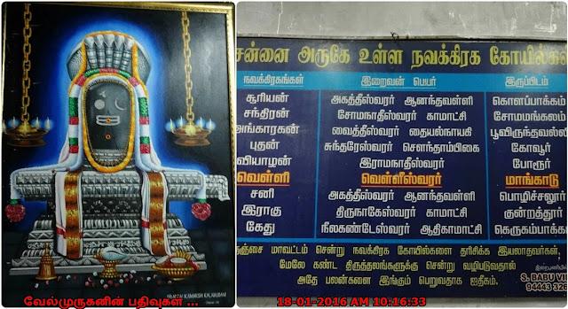 Chennai Navagragha Temples List