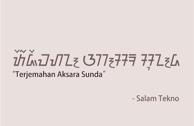 terjemahan ke aksara sunda