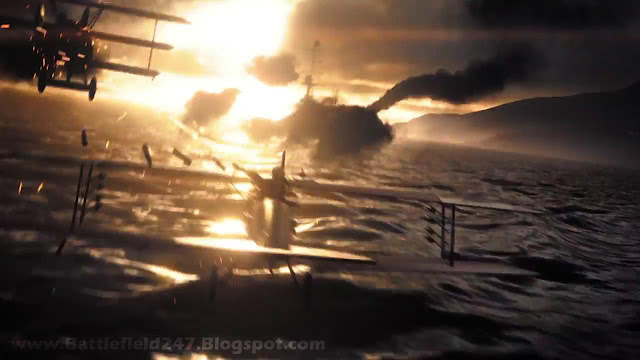 Battlefield 1 Biplanes Over Water