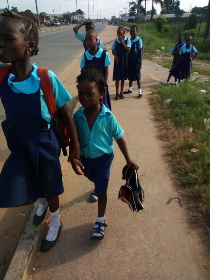 See Primary Students Chased Out From School because of N600 In Rivers State.