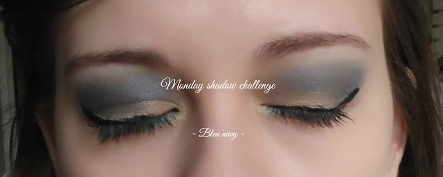 monday shadow challenge - bleu navy
