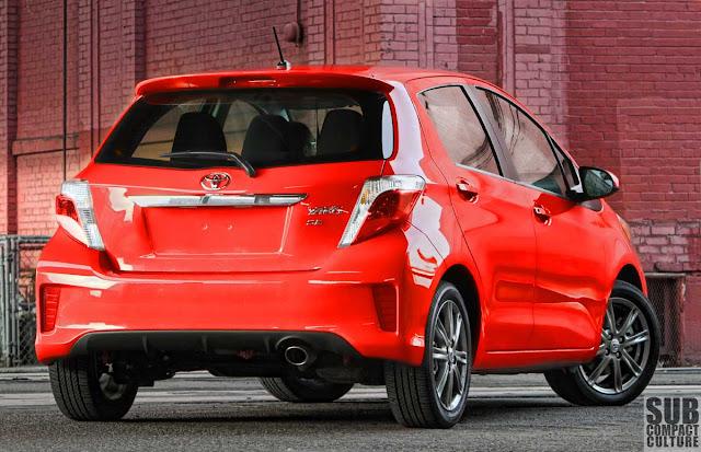 2012 Toyota Yaris SE rear - Subcompact Culture