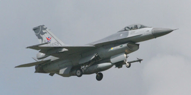 Image Attribute: The file photo of Republic of China Air Force's F-16A Block 20 / Photo by Jason Tu