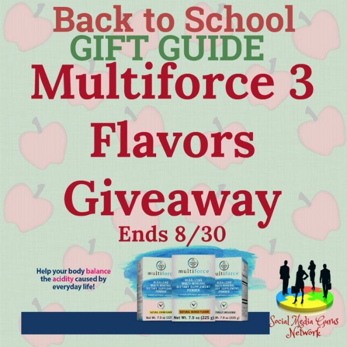 Multiforce Three Flavors Giveaway