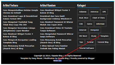 Cara Simple Memasang Kode Histats di Footer Blog