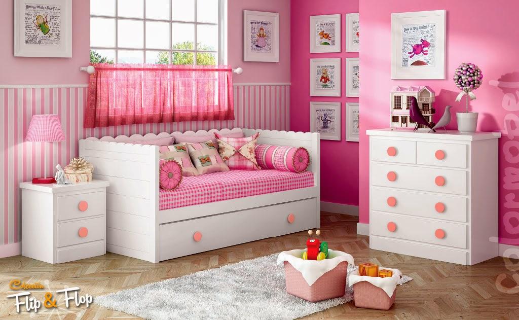 Habitaciones infantiles para ni as camas individuales - Muebles para cuarto de nina ...