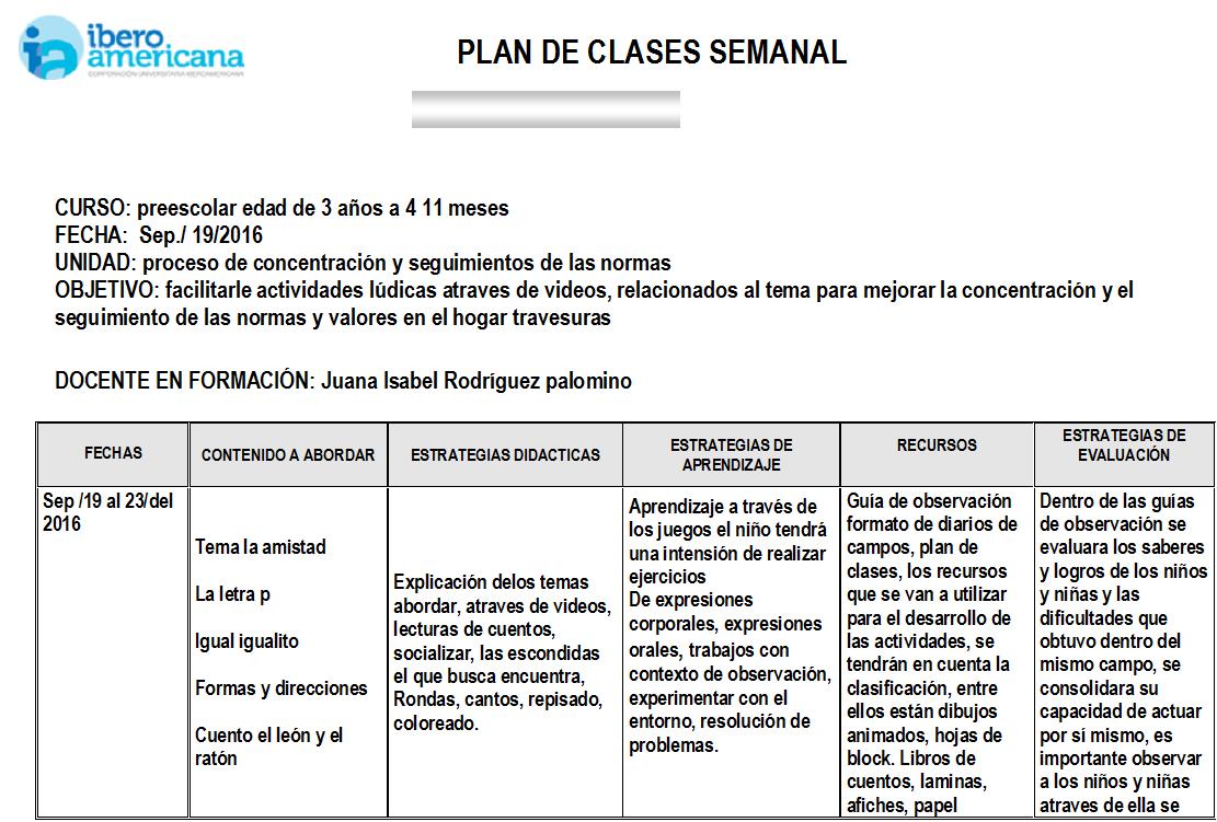 Encantador Plantilla De Plan De Lección Ela Friso - Colección De ...