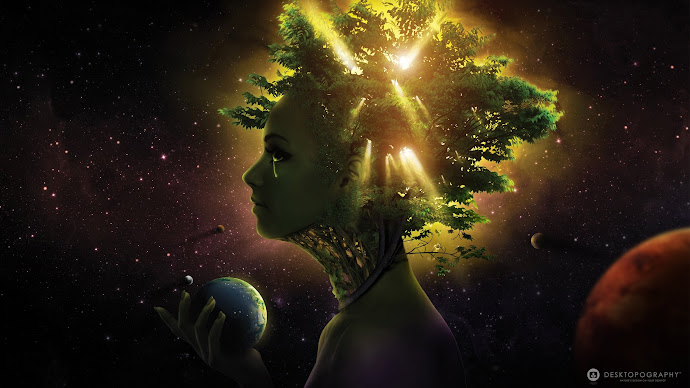 Wallpaper: Gaia Top Desktop Art