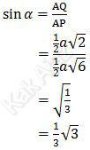 Sinus sudut antara bidang AFH dan bidang ABCD dalam kubus ABCD.EFGH