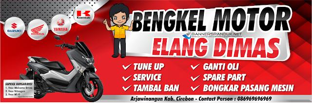 Banner Spanduk Bengkel Motor mobil CDR