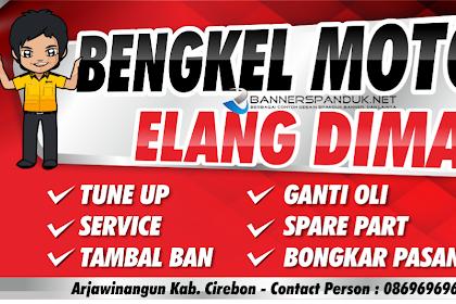 15+ Best New Contoh Spanduk Bengkel Sepeda Motor