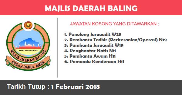 Jawatan Kosong di Majlis Daerah Baling