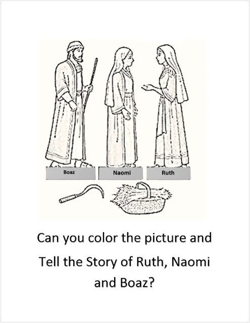 Ruth and naomi bible coloring page sketch coloring page for Ruth and boaz coloring pages