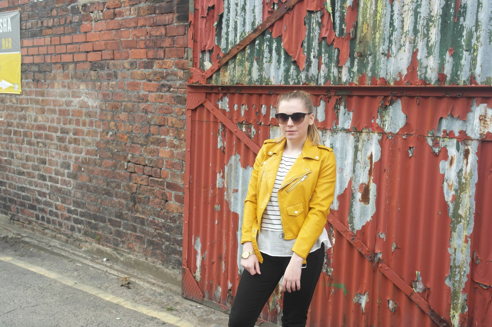 Leather jacket yellow zara - Ootd Zara Yellow Leather Jacket