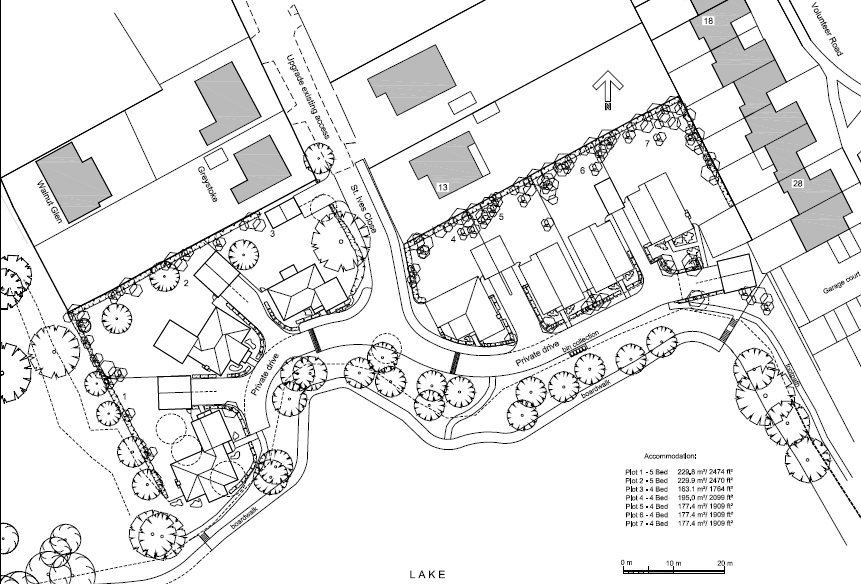 Councillor Alan Macro: Planning application for 7 houses