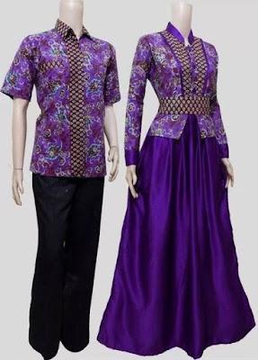 model baju batik sarimbit elegan