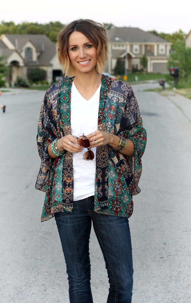 ONE little MOMMA- Stitch Fix Kimono