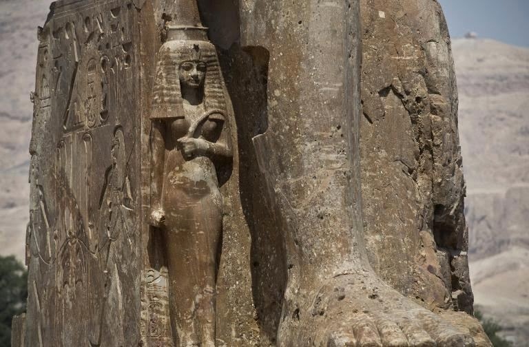 Two colossal pharaoh statues unveiled in Egypt