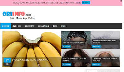 Cara Membuat Welcome Bar Dengan Tombol Close Di Blog