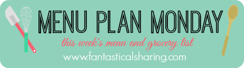 Menu Plan Monday on May 9, 2016 | My week of meals and grocery list! #menuplan #groceries